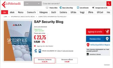 Libro SAP Security Blog - Youcanprint _ LaFeltrinelli e altre 11 pagine - Lavoro