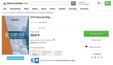 SAP Security Blog - - Libro - Mondadori Store e altre 9 pagine - Lavoro - Micros