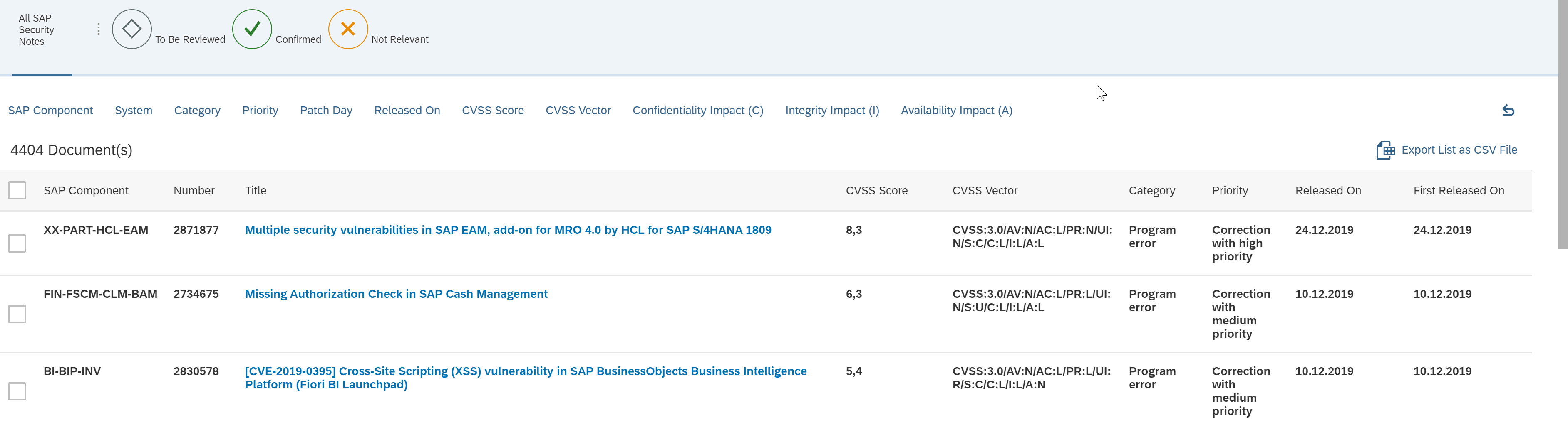 SAP Security Patches